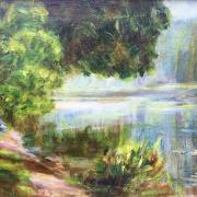 Blanche_Hoschede_Monet water lilies Claude Monet Giverny